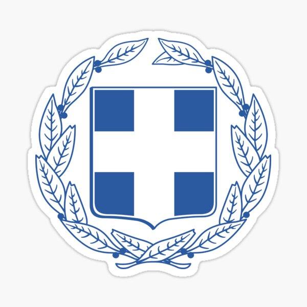 Greece National Emblem Sticker