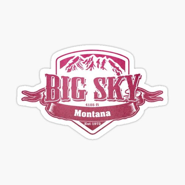 Big Sky Montana Ski Resort Sticker