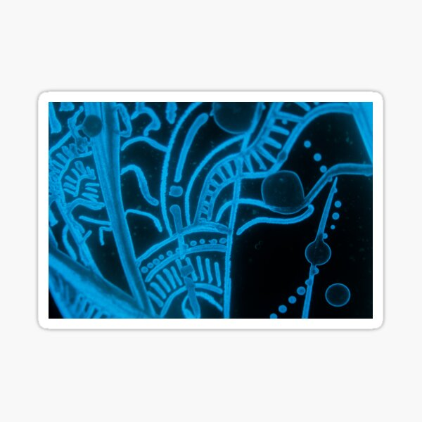 Glowing Bacterial Art - Abstract Sticker