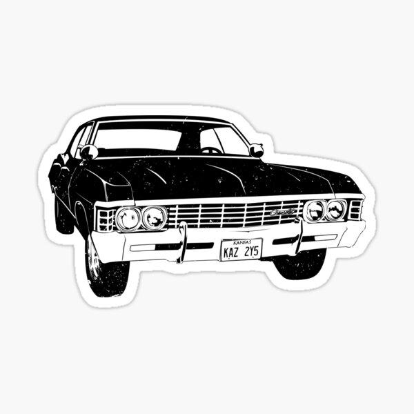 Supernatural Baby Impala Plates Patch