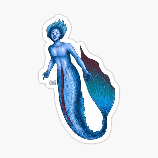 Betta Fish Merman Sticker