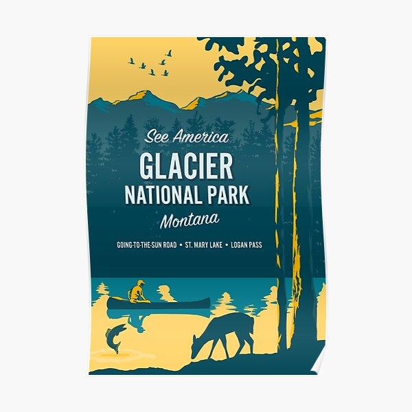 See America – Glacier National Park Poster