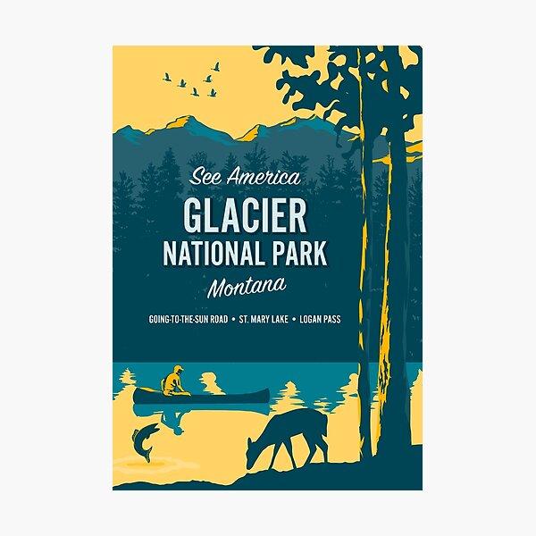See America – Glacier National Park Photographic Print