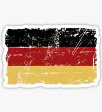 Deutsche Flagge - Vintage Look Sticker