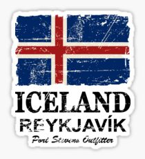 Island Flagge - Vintage Look Sticker