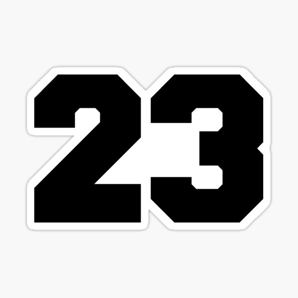 Number 23 Sticker Vinyl Cut Twenty Trhee Sticker Vinyl Number Veintitrés VI