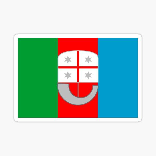 Flag of Liguria Region of Italy  Sticker