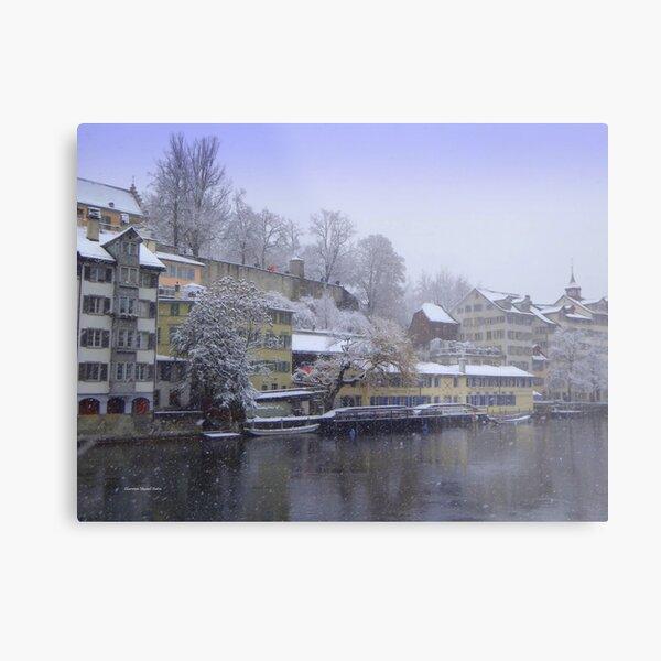 Snowy Zurich Metal Print