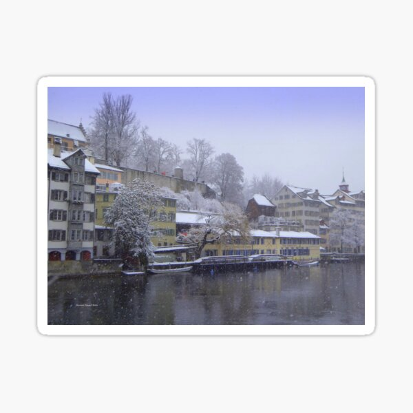 Snowy Zurich Sticker