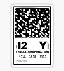 J.F.Sebastian Tyrell Corporation Entry Card Sticker