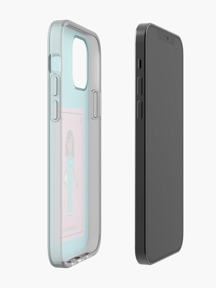 Alternate view of La Enfermera iPhone Case