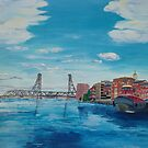 portsmouth harbour by Caroline  Hajjar Duggan