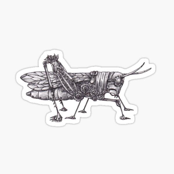 Steampunk Grasshopper Sticker