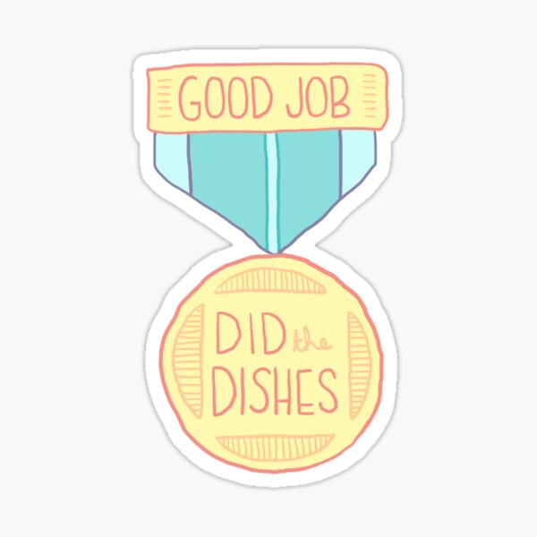 Spoonie Achievement:  Did the Dishes Sticker