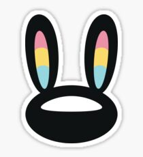 Pogo Space Bunny Black Sticker