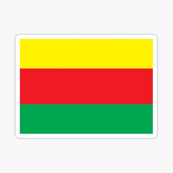 Flag of Syrian Kurdistan  Sticker