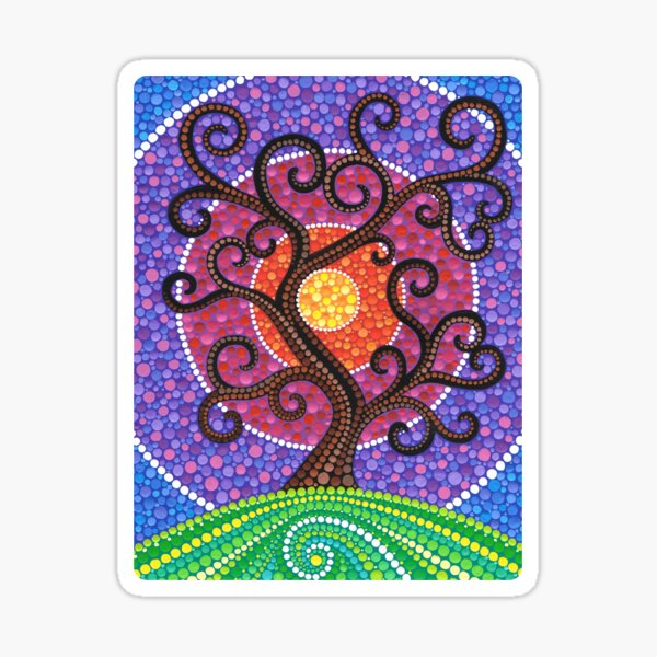 Spiralling Tree of Life Sticker