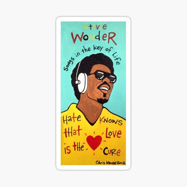 Stevie Wonder Pop Folk  Art Sticker