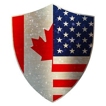 Canada America Flag Shield copy by ockshirts