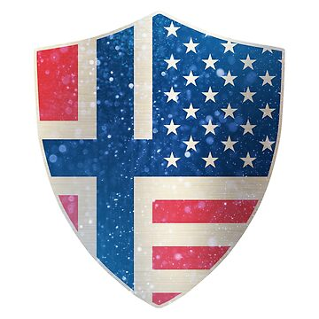 Norway American Flag Shield copy by ockshirts
