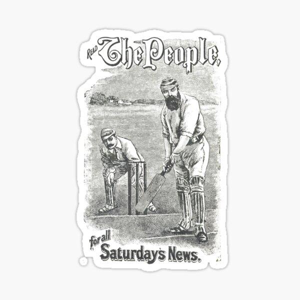 VINTAGE NEWSPAPER COVER - Circa 1895 Sticker