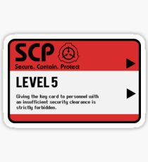 SCP Facility Key Card Red Containment Sticker