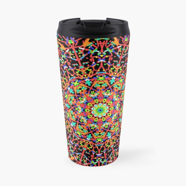 BrightNightLight Red Mandala 6 Travel Mug