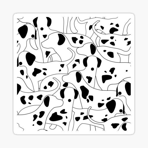 Dalmation Print Sticker