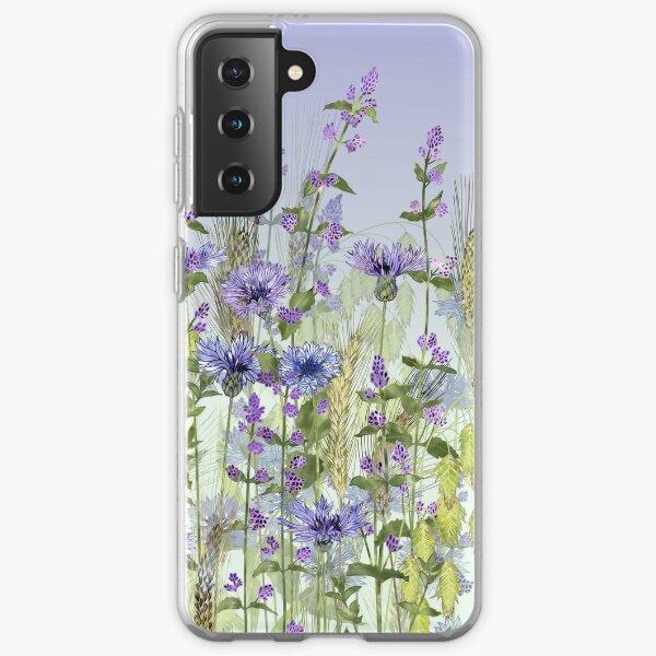 Blue Flower Field - Cornflowers, Catmint & Wheat Ears Samsung Galaxy Soft Case