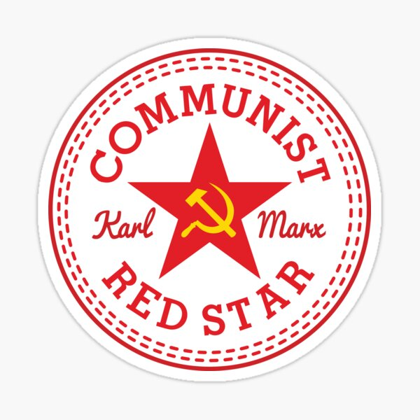 Commie Shoe Logotipo Pegatina