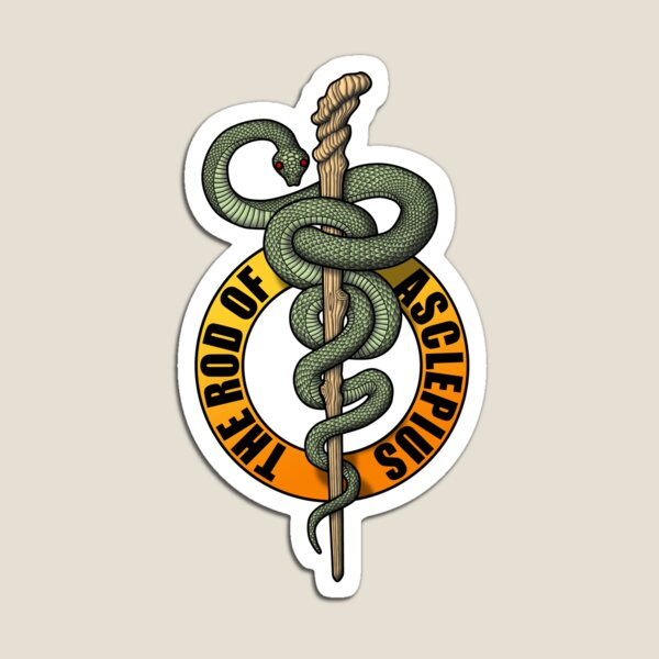 Rod of Asclepius Magnet