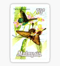 Malaysia Butterfly Print Sticker