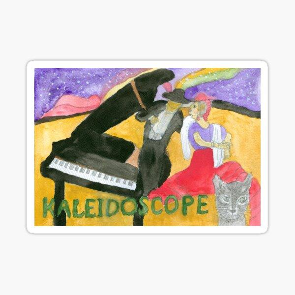 Kaleidoscope Music Album Cover Sticker