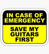Rette zuerst meine Gitarren Sticker