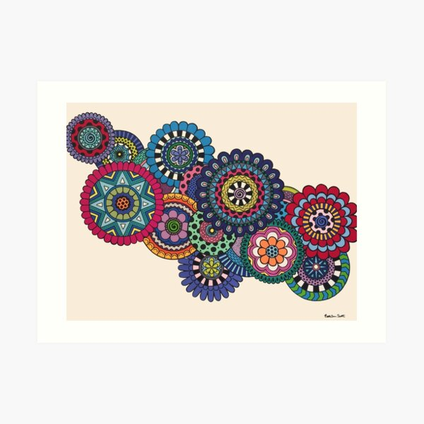 Mandalas On Ivory Art Print