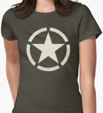 US Tanker Vintage Star Women's Fitted T-Shirt
