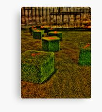 green boxes HDR Canvas Print