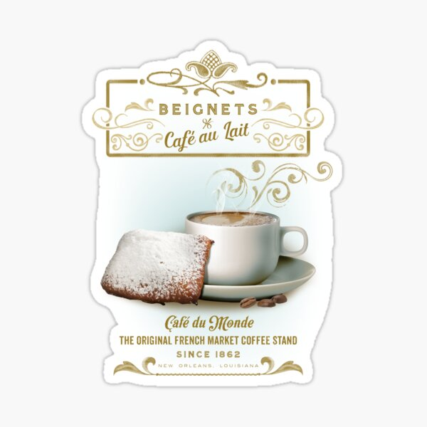 Cafe au Lait and Beignets Sticker