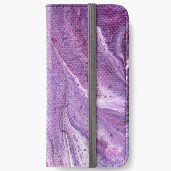 Purple Fluid Art 1 iPhone Wallet