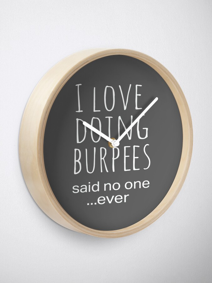 Alternate view of Top Funny Work Out Burpees Design Clock