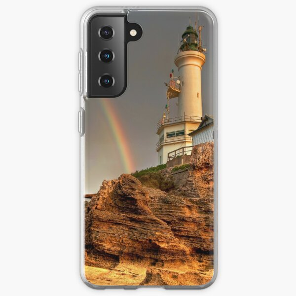 A Rainbow Beside Point Lonsdale Lighthouse, Victoria Samsung Galaxy Soft Case