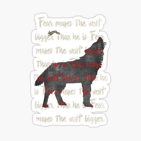 Fear the wolf Sticker