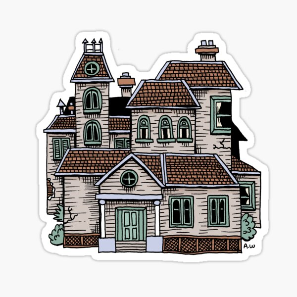 Haunted House (Full Colour) Sticker