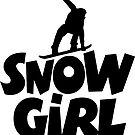 Snowgirl Snowboard von theshirtshops