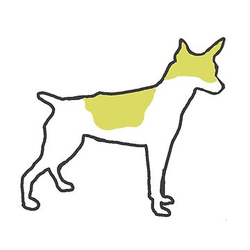 rat terrier white and lemon silhouette by marasdaughter