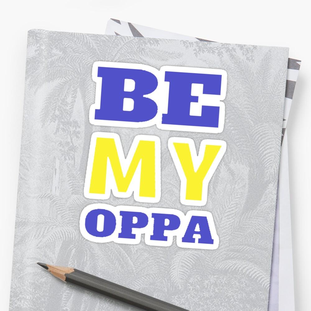 SEI MEIN OPPA - Blau Sticker
