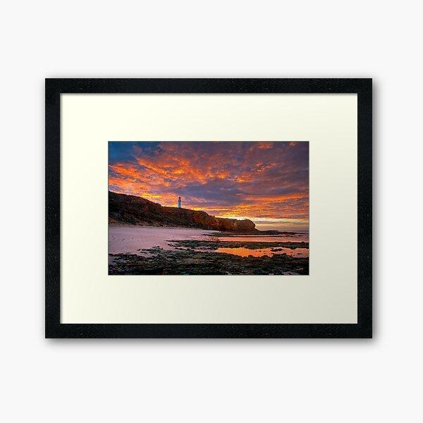 First Light Over Split Point Lighthouse, Victoria Framed Art Print