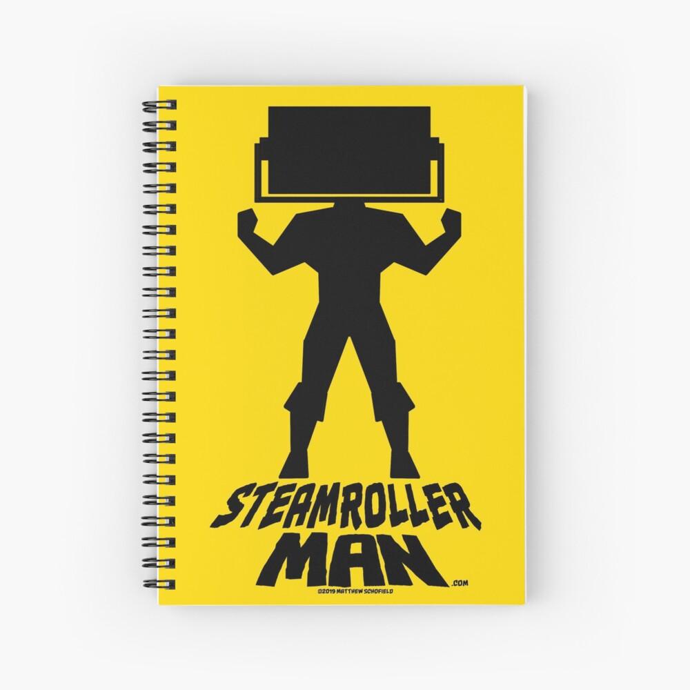 Steamroller Man Logo Spiral Notebook