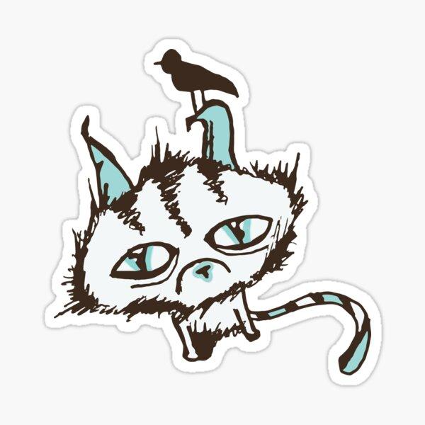 Teal Sky Kitty Sticker