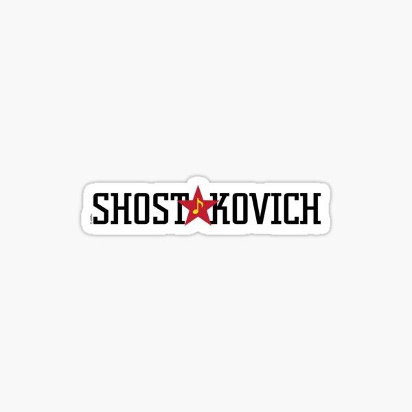 SHOSTAKOVICH Sticker